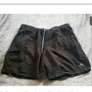 Tommy Bahama Relax Black Swim Trunks Size XLT